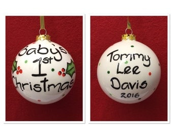 Personalised Baby's First Christmas