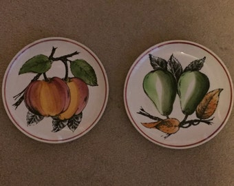 Hand-Painted French Porcelain Side Plates