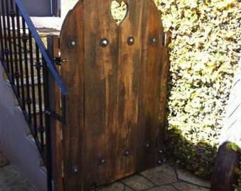 Handcrafted Rustic Wooden Gate