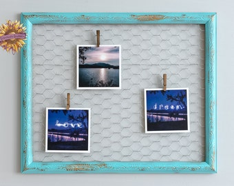 Turquoise and Gold Foto Display