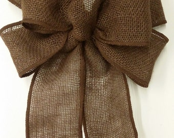 Brown Burlap Bow
