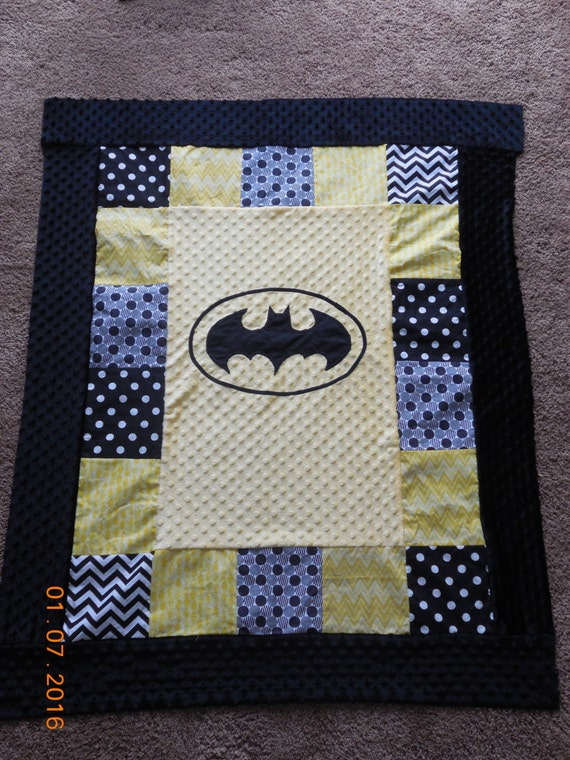 Batman Baby Quilt Batman Baby Blanket Baby By Quiltsforzoey
