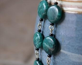 Malachite Dangly Earrings