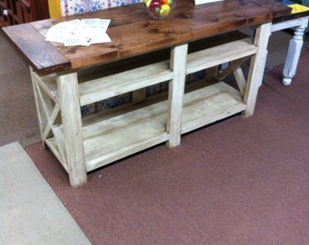 Rustic X TV Stand