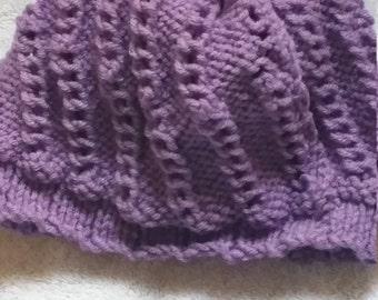 Purple Woman's Snow Hat