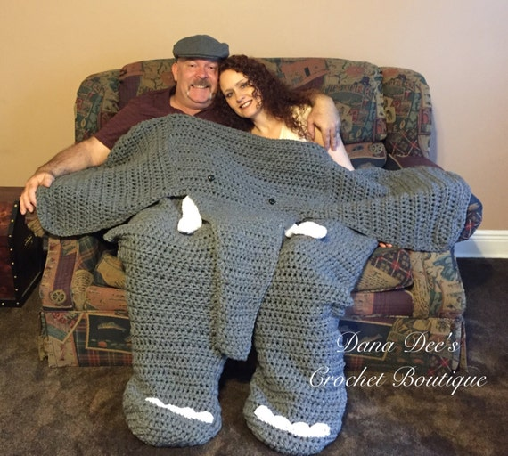 Bulky Elephant Blanket For Two Pattern