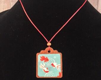 Origami koi necklace (#4)