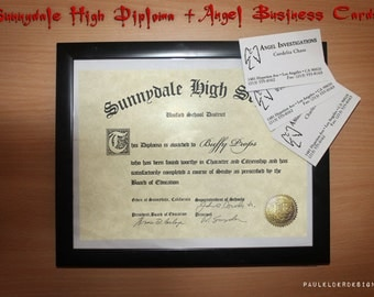 Sunnydale High Diploma customizable Digital Download with bonus Graduation Photo