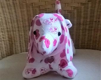 Dachshund Plush Dog with Red Enamel Heart