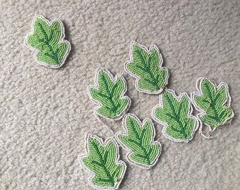 Traditional Native Beadwork Leafs