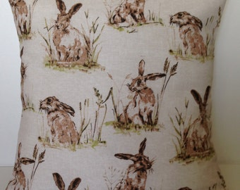 "16"" Hare Linen Look Cotton Cushion Cover"