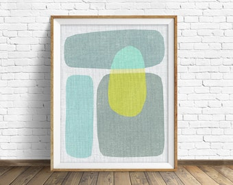 "mid century modern art, mid century modern wall art, large art, printable art, instant download, large wall art, abstract art - ""Pods No. 6"""