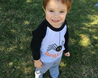 Spider Halloween Shirt - Halloween Shirt - Kids Shirt - Kids Fall Shirt - Spider Shirt - Kids Halloween Shirts : Holiday Shirt
