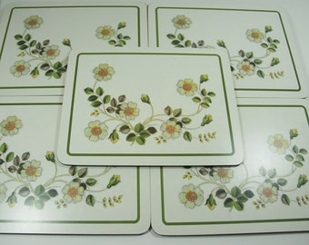 5 Vintage Melamine Place Mats Autumn Leaves - St Michael M & S - 1980's  Country Kitchen, Retro Table Mats