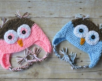 Baby Owl Hat, Crochet Owl Hat, Baby Boy Owl Hat, Baby Girl Owl Hat, Newborn Owl Hat, Newborn Photo Prop, Toddler Hat, Kids Hat