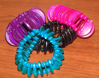 Vibrant Stretch Wood Bracelet