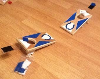 mini tabletop cornhole game