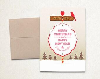 Printable Christmas Card, Christmas Card Printable, DIY Christmas Cards, Printable Holiday Card, Christmas Card Digital