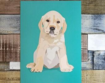Labrador Illustrated Dog Print