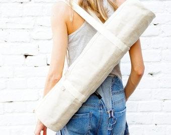 Eco Foyo natural yoga mat bag / Free Shipping