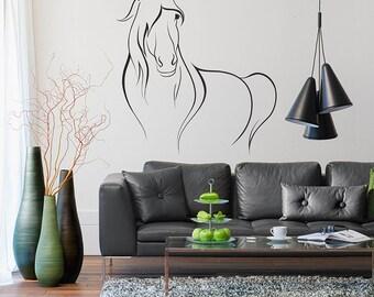 I love horses Wall Decal, Horse Decal, Horse Decor, Horse Art, Horse Wall Decals, Animals Interior Design Home Decor,Animals Wall Decals 010