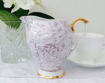 Exquisite Marbled Grey Vintage Wawel Creamer, Milk Jug