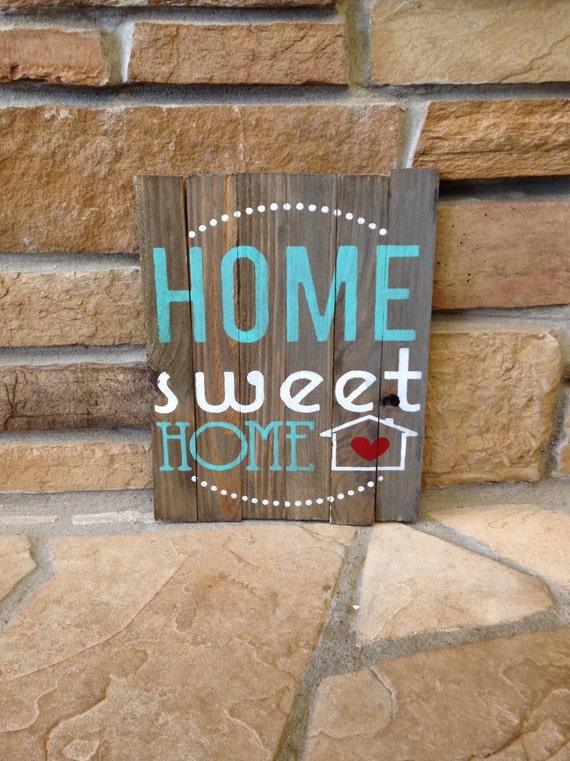 Home Sweet Home Handmade Rustic Wood Sign Home Decor Wall