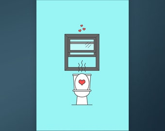 I Love You Even After You Stink Up the Bathroom  / Love/Relationship Card