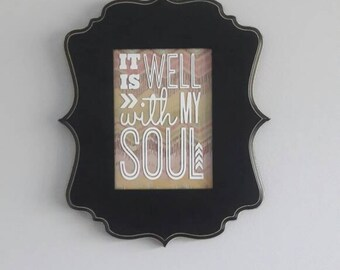 Decorative Picture Frame It is well