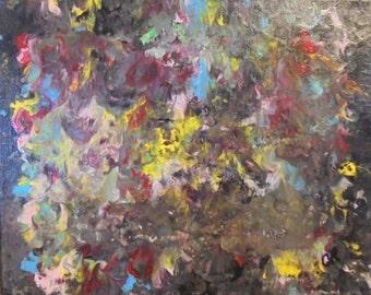 Mush abstract 8x10 acrylic