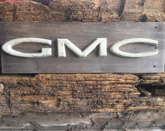 GMC Truck Grill Letters