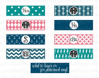 YAY! IT FITS Cell Phone Wrap Monogram Design for Silhouette and other craft cutters (.svg/.dxf/.eps/.pdf)