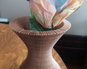 Vintage Paper Vase Flip Flop Hat Mike Bishop Productions Flexible Vase Honeycomb Flower Pot Cover Multipurpose 1970's