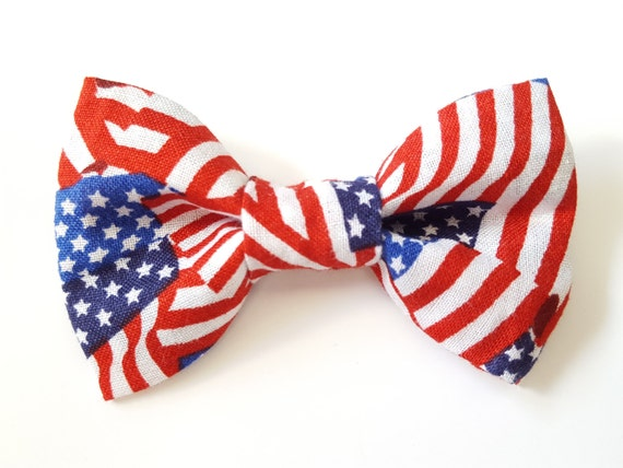 American Flag Bow for Cat or Small Dog Collars, 100% Sales Donated to Feeding Feral Cats Read in Bio