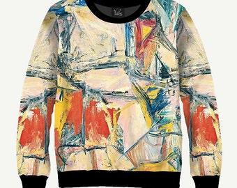 Abstract Picture, Paints - Men's Women's Sweatshirt | Sweater - XS, S, M, L, XL, 2XL, 3XL, 4XL, 5XL