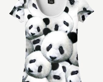 Panda T-shirt, Panda Shirt, Women's T-shirt, Women's Shirt