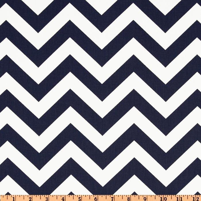 Premier Prints Cotton Twill Fabric, Navy Twill Zig Zag Fabric ...