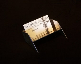 Stainless Steel Business Card holder. Polished