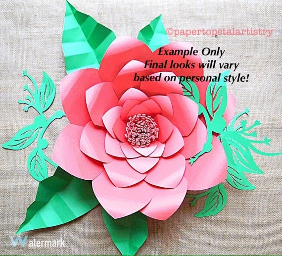 large flower svg files giant diy paper by catchingcolorflies
