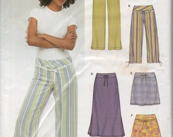 Simple skirt and pants pattern 6354