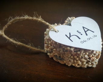 Bird Seed Ornament - 10pcs - Seed Favors - Wedding Favors - Baby Shower Favors - Bridal Shower Favors - Party Favors - Favour