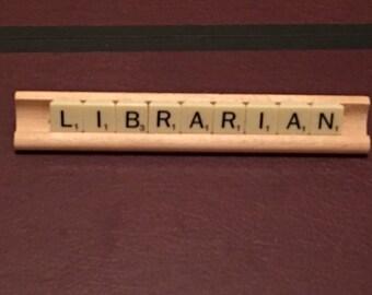 Librarian Desk Plaque