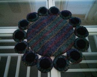 Wool Penny Mat/candle mat