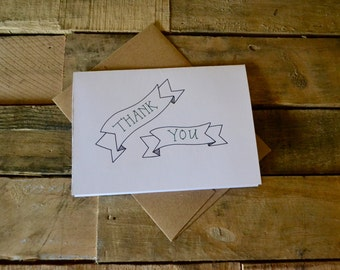 Handwritten Greeting Card | Thank You | 1 Card + Envelope