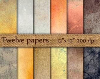 "Grunge Digital Paper: ""DISTRESSED PAPER"" rustic digital paper , distressed paper , vintage digital paper , shabby texture grunge feel"