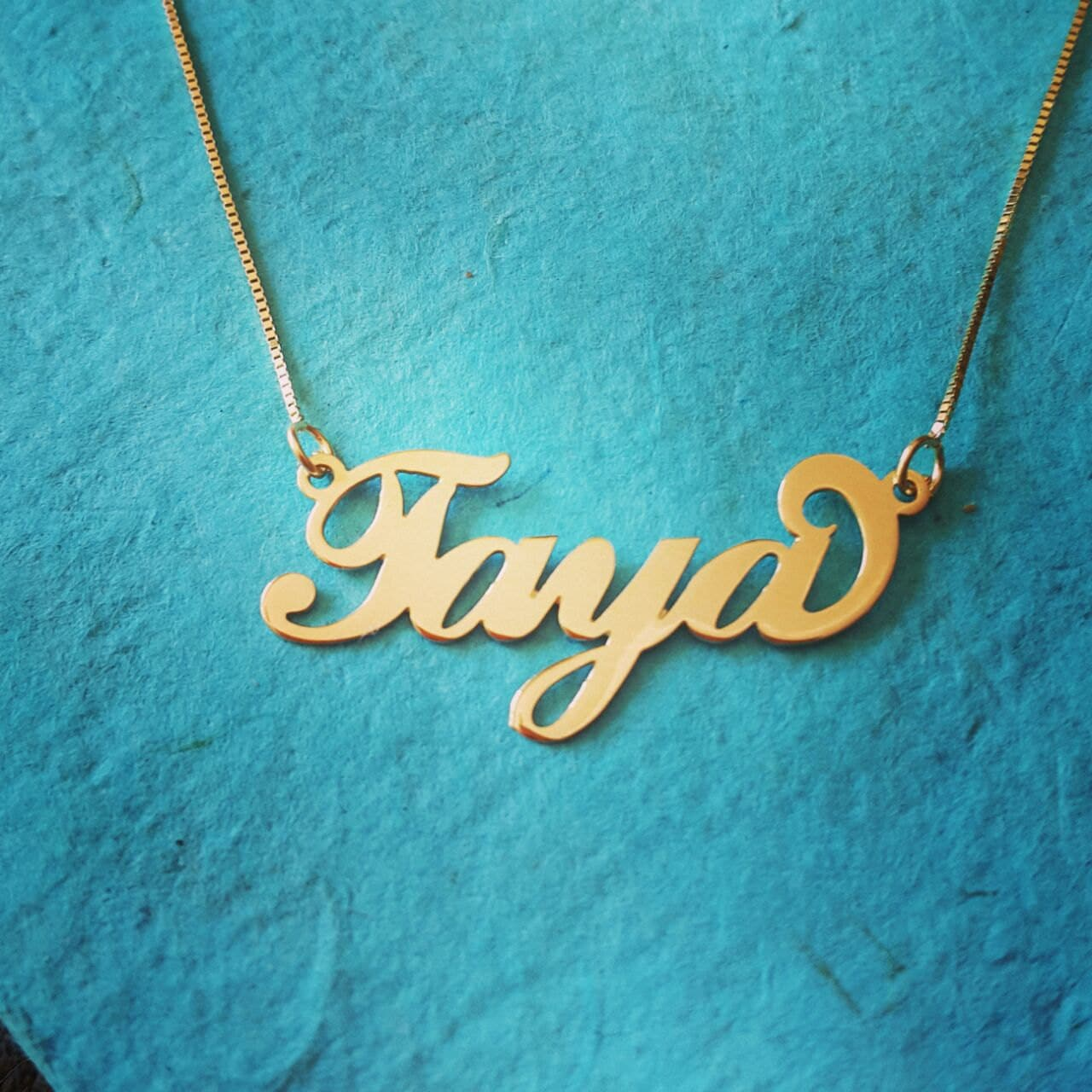 14k gold name necklace personalized name chain solid 14k. Black Bedroom Furniture Sets. Home Design Ideas