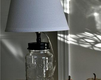 clear atlas mason jar base lamp
