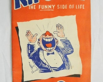 Kit O Wit Funny Side Of Life 1944 Joke Clean Humor World War II Funnies Book Paperback Magazine Illustrated William H Wood Publisher