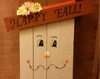 Pallet wood scarecrow