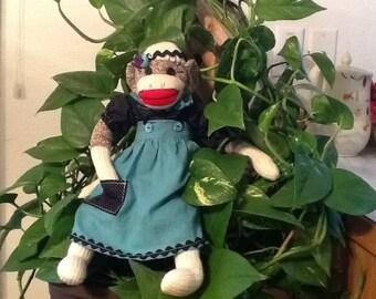Girl sock monkey
